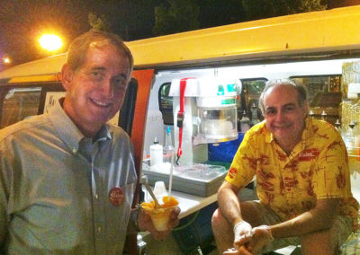 Charlie-Hales-and-John-Alland-shave-ice