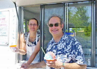 John and Cheryl at shave ice booth
