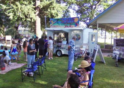 shave ice event in park