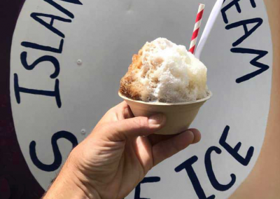 island daydream shave ice with words
