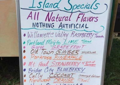 island daydream shave ice flavors sign